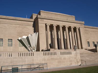 Claes Oldenburg and Coosje van Bruggen played a game of badminton at the Nelson Atkins Museum in Kansas City, MO.