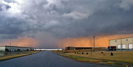 Tornado watch with heavy rain