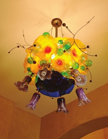 Springfield Hot Glass, first commissioned chandelier