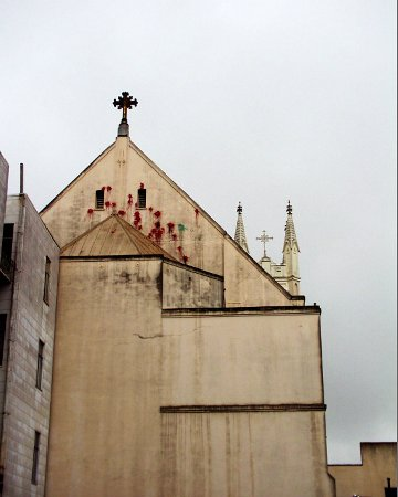 "The stigmata of St Peter and Paul's in San Francisco. Another image from ""Caught in the Web""."
