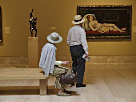 Patrons at the Norton Simon Museum of Art.