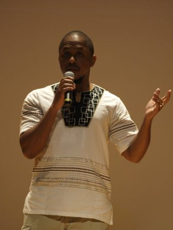 Patrick Mureithi premiered Icyiere: Hope at the College of Arts and Letters series at Missouri State University. The film is a documentary about the reconciliation process between survivors and perpetrators of the 1994 Rawanda genocide.