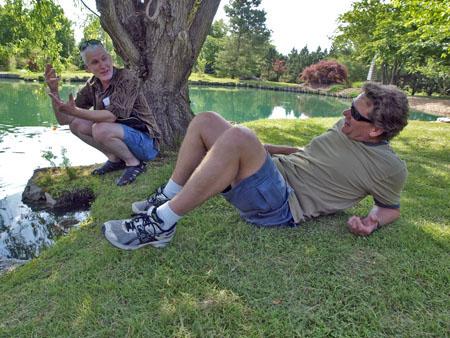 Curt and Jon on a mini vacation at Springfield's, Japanese Stroll Garden