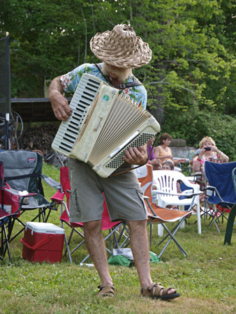 Chris Slotwinski strolled the backyard stage at The Rockhouse Summer Festival.