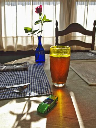 A kitchen table still-life.