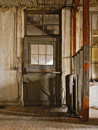 The second floor of  the South Pier Hardware store building before the remodel demolition.