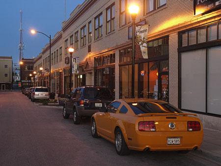Friday night on Pershing Street.