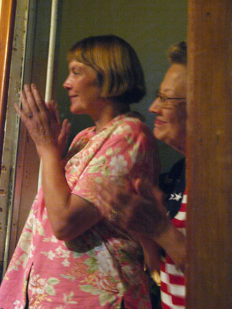 Phil's wife Jane and his mother, proudly watched their son's jam to an Almond Brothers song.