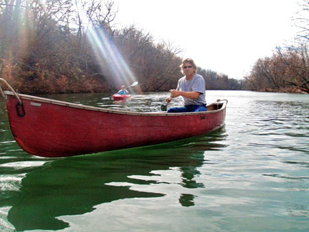 David and Jan Massey, two members of the NRPC paddled Sunday on the James River