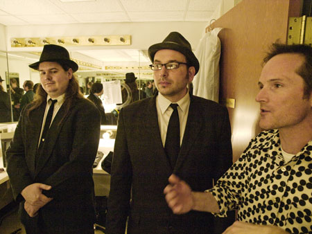 Two of the detectives were seen backstage with Alan Pierson at the Gillioz.