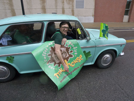 The boys from the Mudhouse had fun in the St Pat's Parade