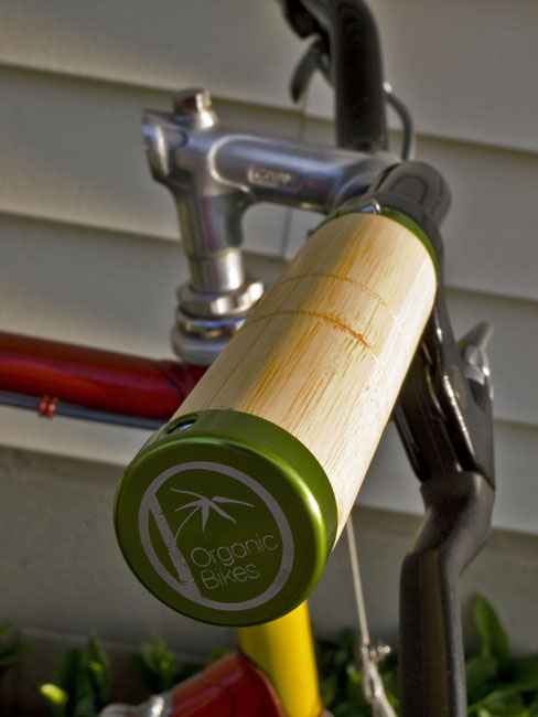 Organic Bikes make bamboo bicycles and accessories out of bamboo and repurposed agriculture bags.