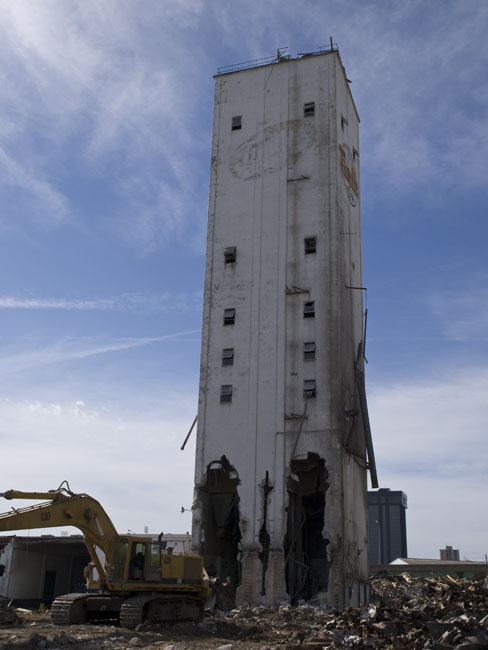 The last remaining tower of Tindle Mills will soon be brought to the ground.