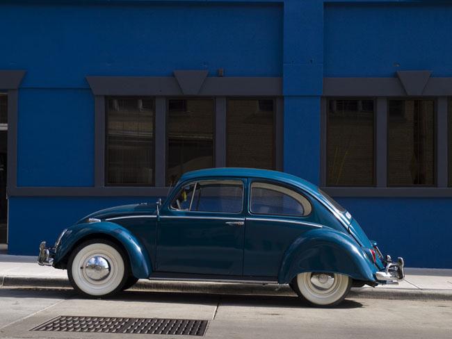 A transportation study in blues.