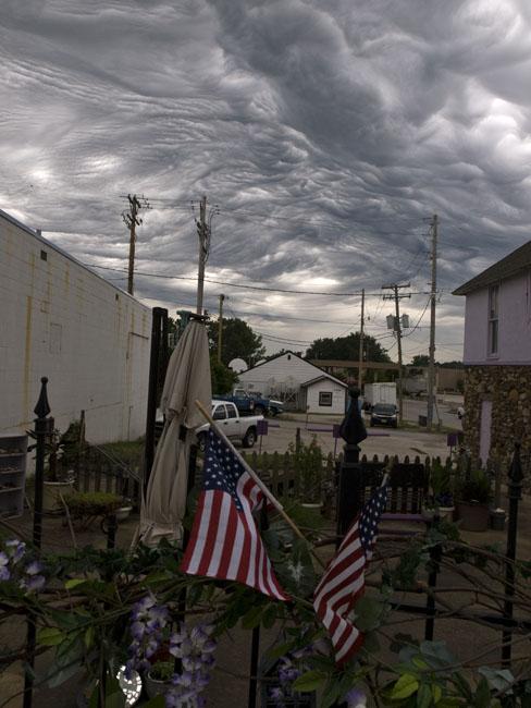Asperatus clouds over Branson
