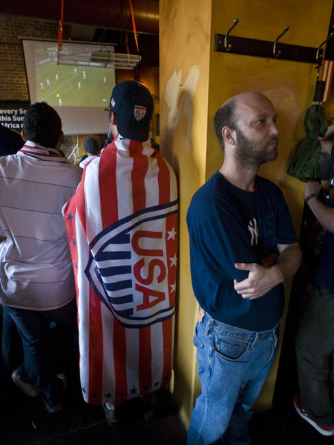TV's and fans were  everywhere inside the Farmer's Gastro Pub in downtown during the first round of the FIFA World Cup.