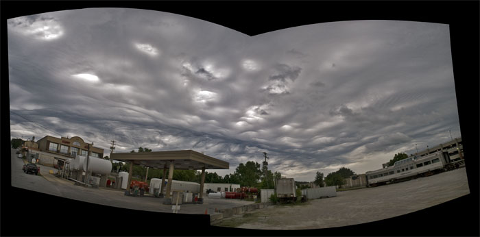 Undulatus (wave) Asperatus (harsh) cloud over downtown Branson