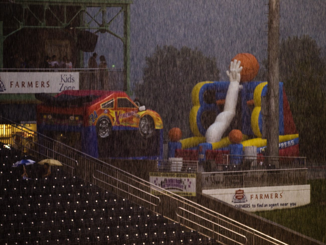 Thursday nights was rained out at Hammons Field