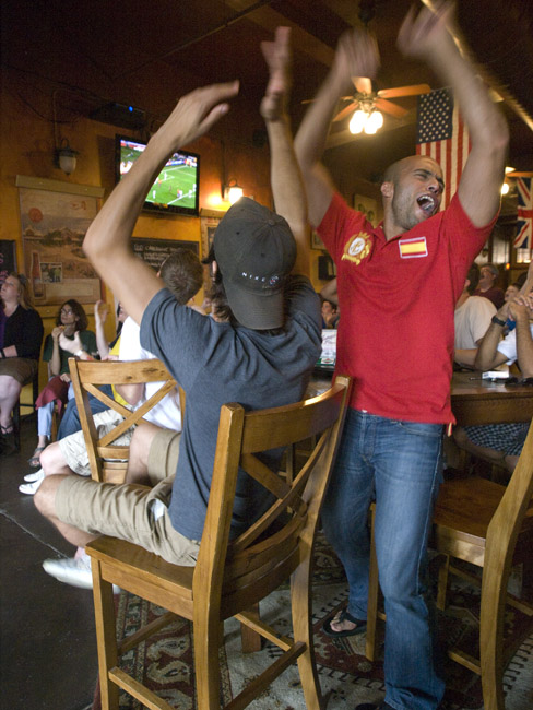 Spain 1   Germany 0, the World Cup at the Farmer's Gastro Pub