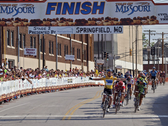 Mark Cavendish won the 2nd stage in the 2nd Tour of Missouri, Sep 7, 2009