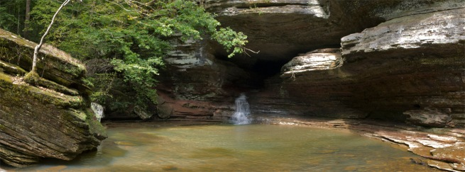 The Natural Bridge in Lost Valley on the Buffalo