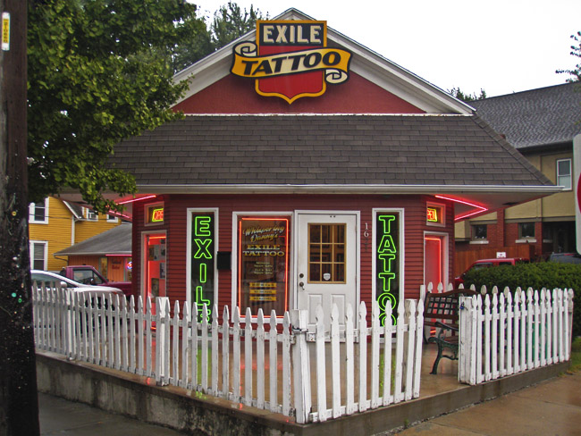 Exile Tattoo on 39th street in the Westport area of Kansas City.