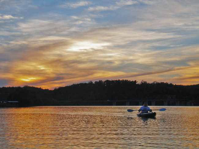 Sunset on Lake Springfield, we  wish you had been here.