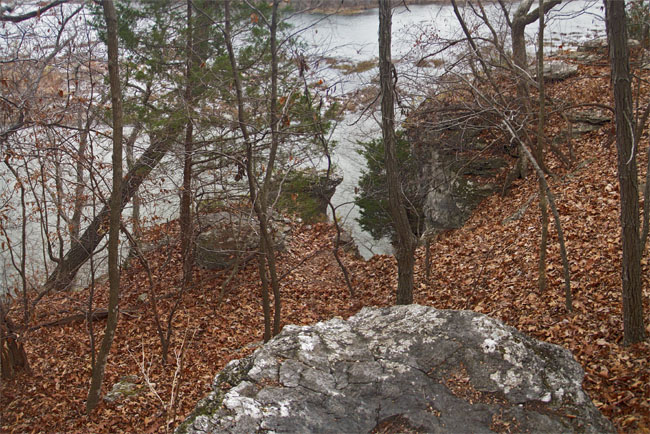 This bluff on Lake Springfield is where I took my first good photograph in 1972.