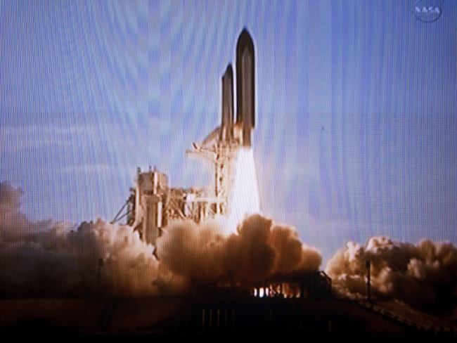 The final launch of the space shuttle Discovery