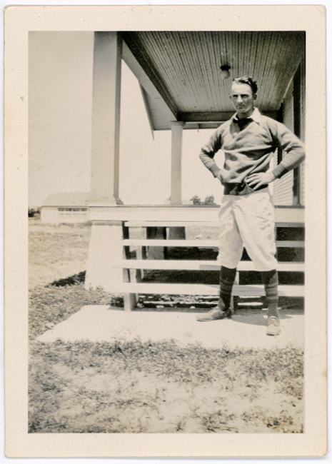 Dominic Bernard Radke (my grandfather} the ball player about 1933