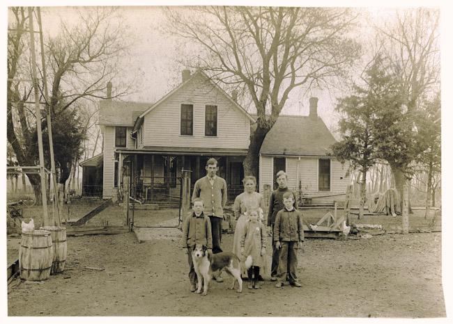 The family Sprick on the farm near Telebasta, Nebraska