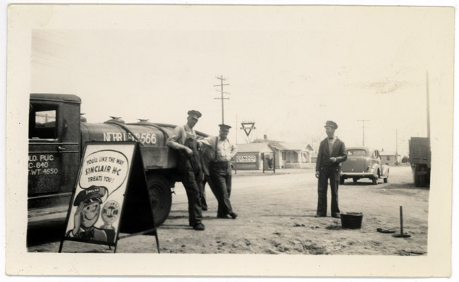 My other Grandfather, Walter Sprick at his Sinclair Station in Julesburg, CO