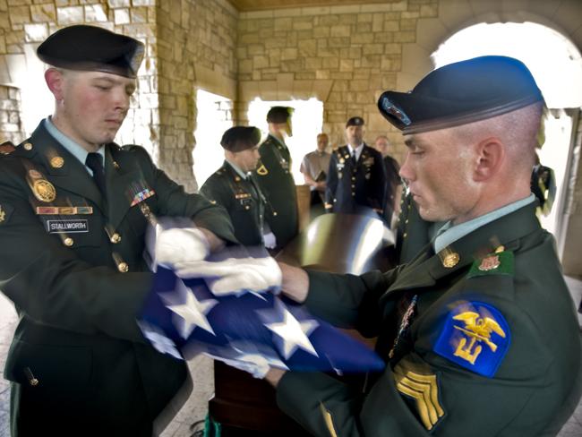 Retired Major James Hughes was interred at the Missouri Veterans Cemetery