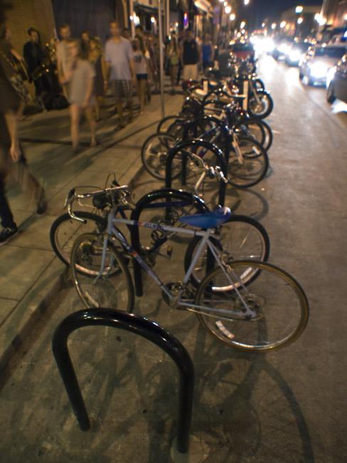 The new bike corral
