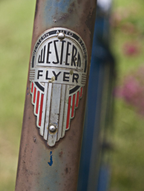 Western Flyer head-badge color study