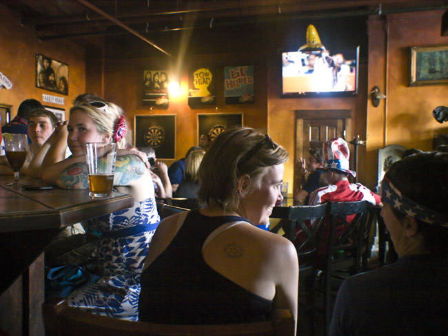 There were good moments at the Gastropub during the women's World Cup final