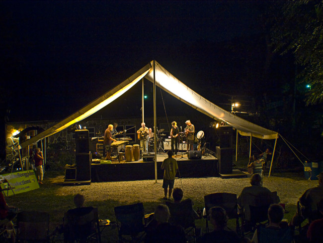 The outdoor stage of the Rock House in Reed Springs