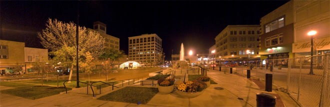 The Park Central Square is gorgeous after dark.