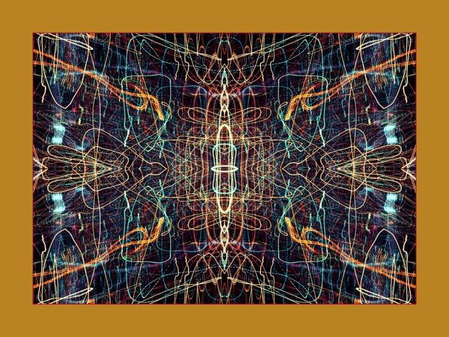 A mandala of streaked light
