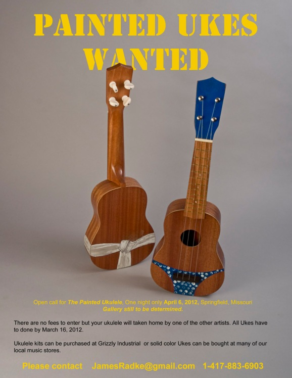 Open call for painted Ukes