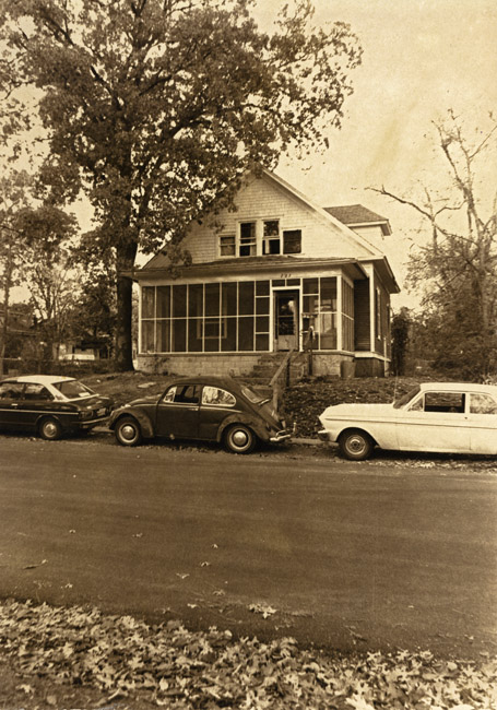 The cars of Rick Flato, Peter Queal and James Radke in front of our house on 727 E. Webster. circa 1976