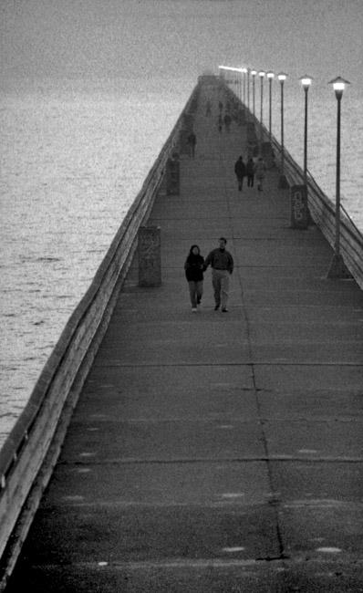 An evening stroll on the Berkeley pier, circa 1993