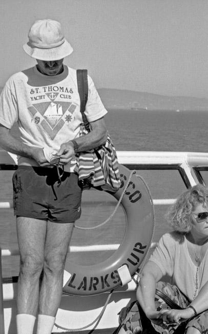 A wonderful journey across the San Francisco Bay on the Larkspur/San Francisco Ferry, circa 1988