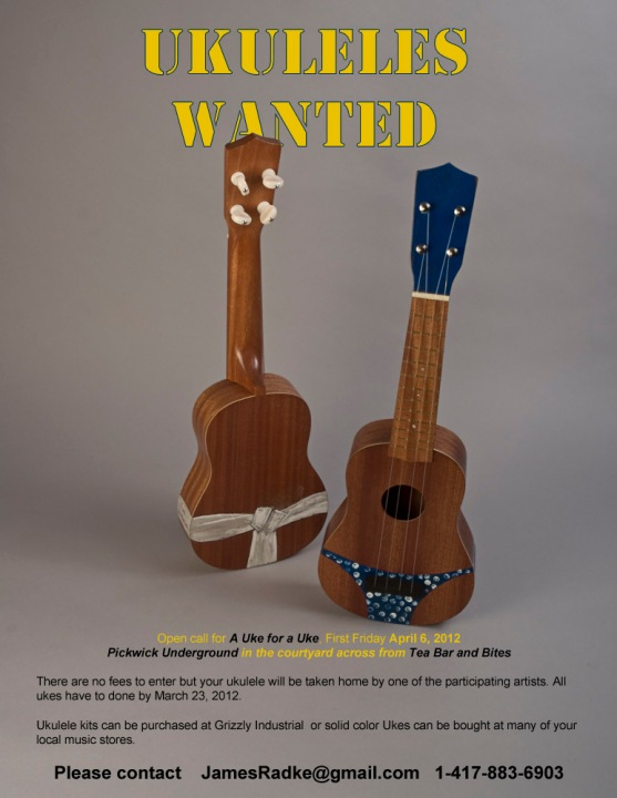 A Uke for a Uke, open call for Painted Ukuleles