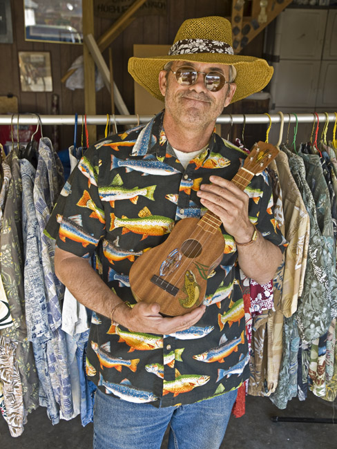 "David Massey's ""Trout Fishing in America"" ukulele"