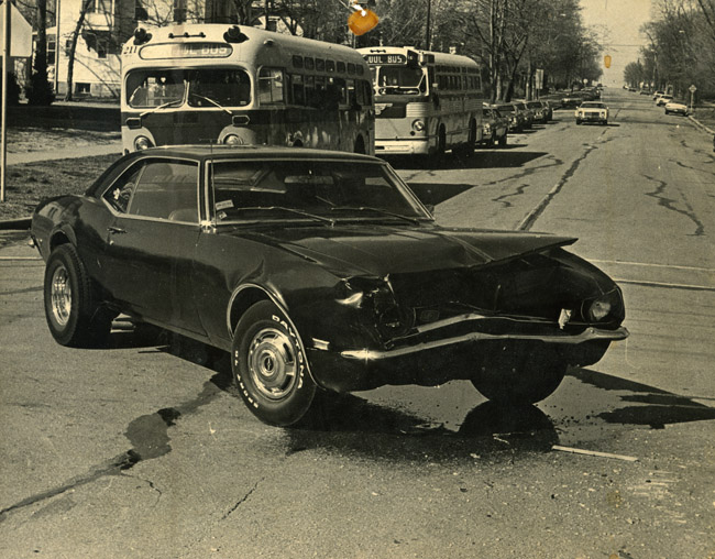 The final photograph of my 1968 Camaro, circa 1976