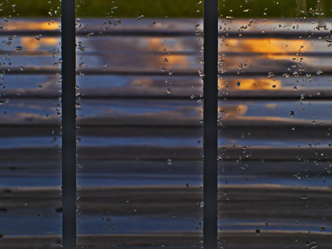 Reflection on the  front porch