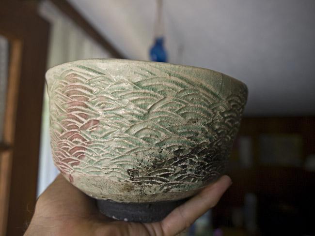 A Raku vessel by the potter, Kurt Mangus
