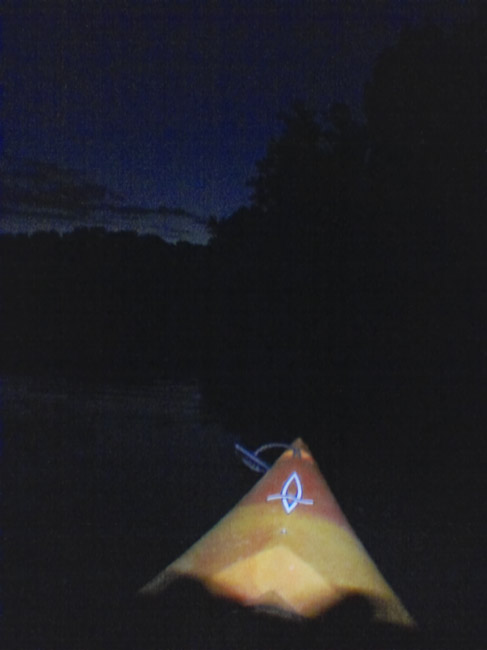An after dark paddle on Lake Springfield