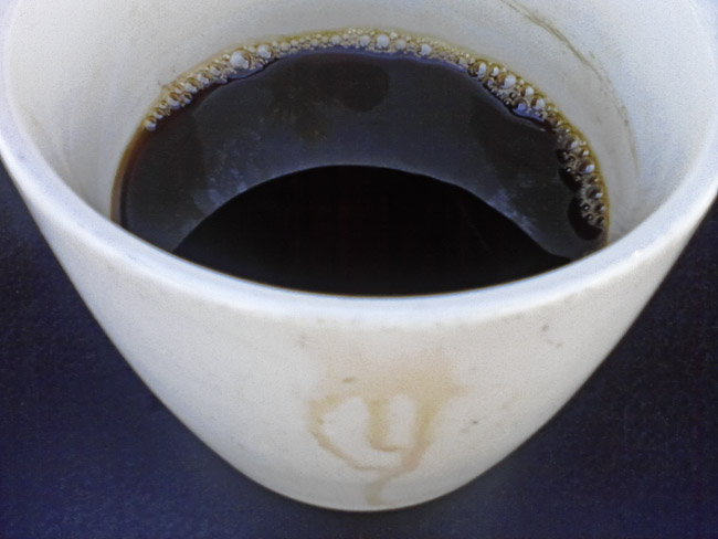 A black coffee eclipse